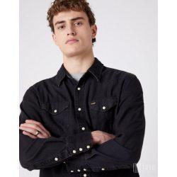 Wrangler ● 27MW Western Shirt ● fekete hosszú ujjú farmering