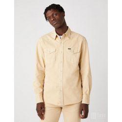 Wrangler ● 27MW Western Shirt ● drapp hosszú ujjú farmering