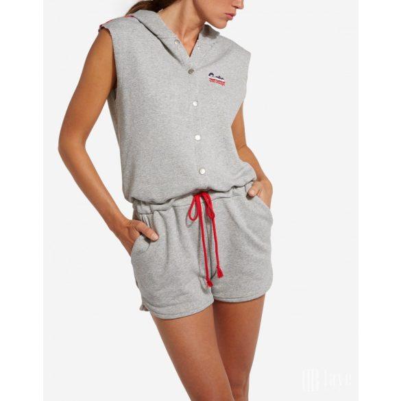 Wrangler ● Sporty overall ● szürke kapucnis pamut overál