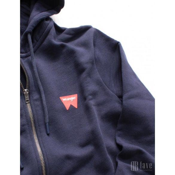 Wrangler ● Sign Off Zupthru ● sötétkék kapucnis kardigán