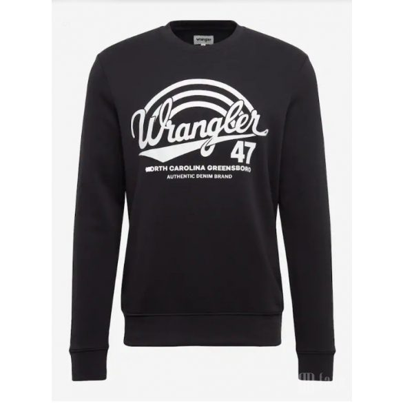 Wrangler ● Logo Crew ● kékesfekete környakas pulóver