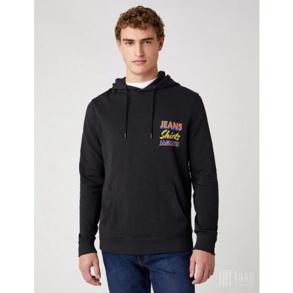 Wrangler ● Wrangler Hoodie ● fekete kapucnis pulóver