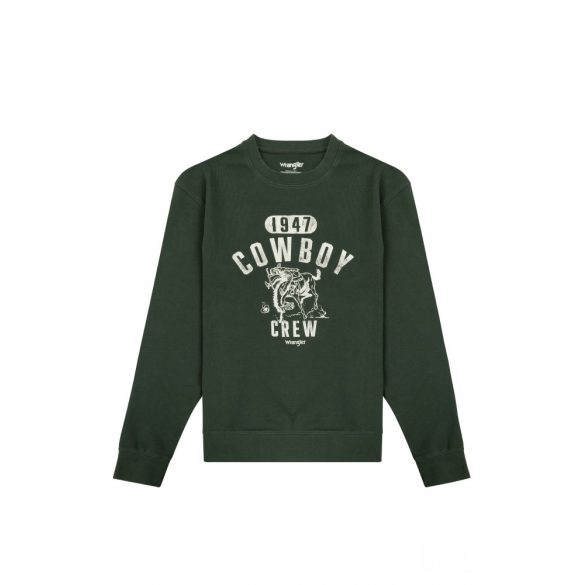 Wrangler ● Cowboy Crew ● zöld környakas pulóver
