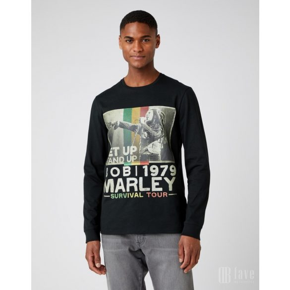 Wrangler ● LS Stand Up Tee ● fekete hosszú ujjú póló (Bob Marley kollekció)