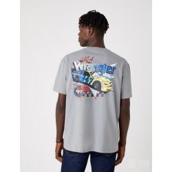 Wrangler ● SS CAR Tee ● szürke feliratos laza póló