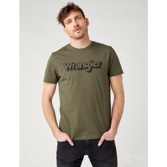 Wrangler ● SS Logo Tee ● zöld rövid ujjú póló