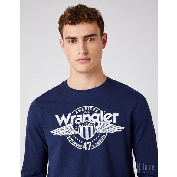 Wrangler ● LS Americana ● sötétkék feliratos hosszú ujjú póló