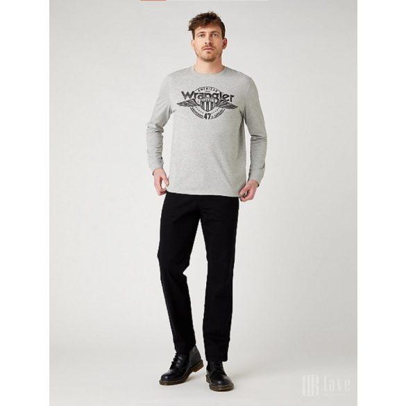 Wrangler ● LS Americana ● szürke melange feliratos hosszú ujjú póló