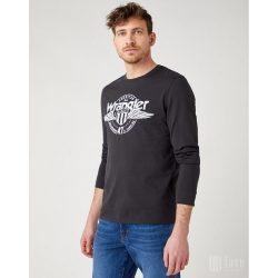 Wrangler ● LS Americana ● fekete feliratos hosszú ujjú póló
