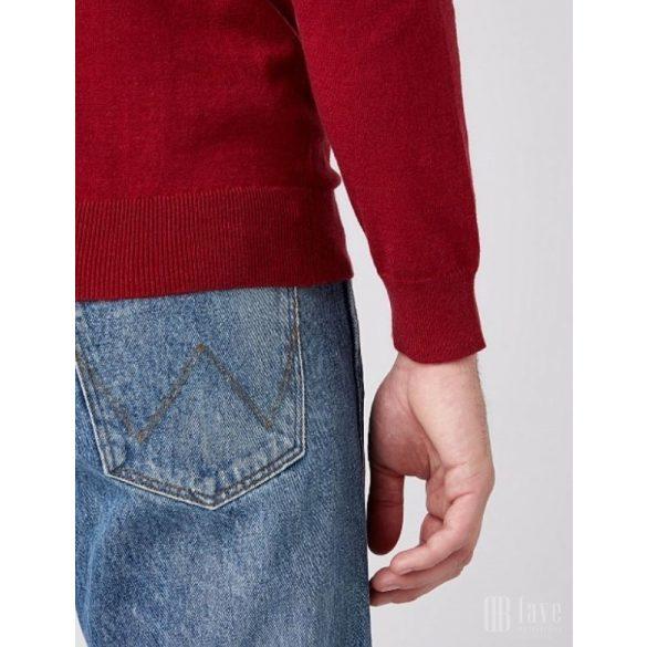 Wrangler ● Crewneck Knit ● piros kötött pulóver