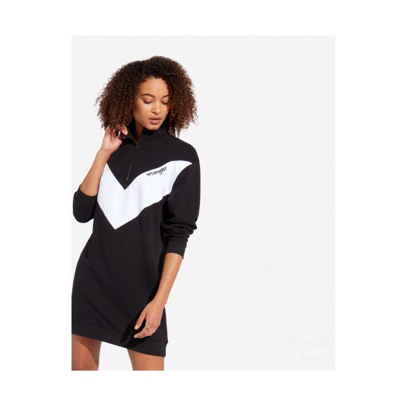 Wrangler ● Sweat Dress ● fekete pulóver fazonú ruha